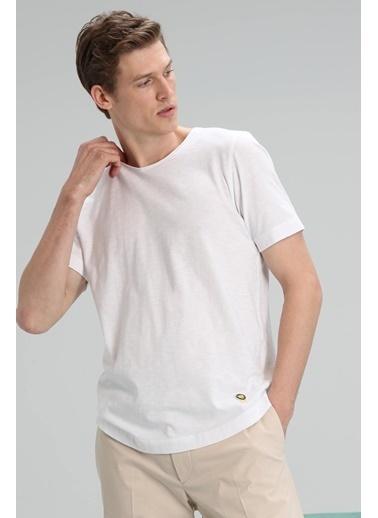 Lufian Junya Modern Grafik T- Shirt Haki Beyaz